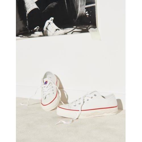 산드로 스니커즈 Sandro Baumwollsneaker mit Flame SFACH00431 Weiss