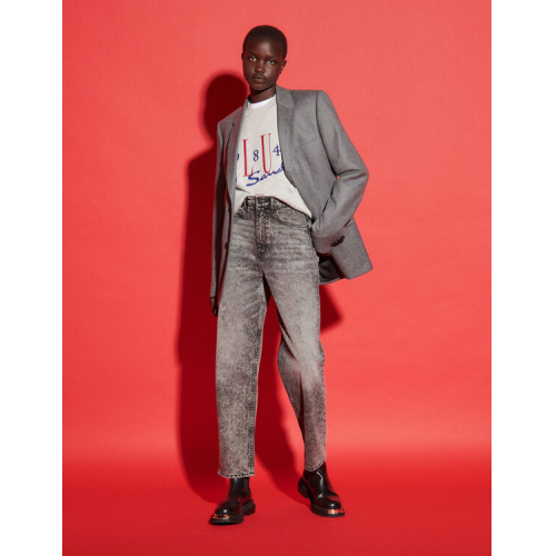 산드로 보이프렌드 데님진 Sandro Destroyed boyfriend jeans,Charcoal Grey