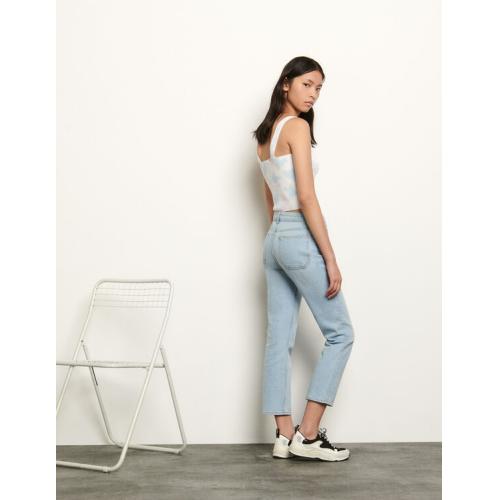 산드로 스트레치 청바지 Sandro Stretch jeans with 5 pockets,Bleached - Denim
