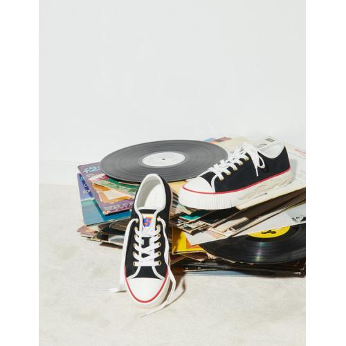 산드로 스웨이드 스니커즈 Sandro Suede sneakers with flame sole,Black
