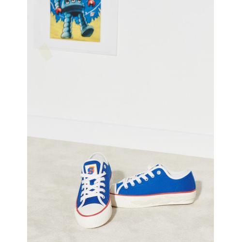 산드로 스니커즈 Sandro Canvas sneakers with flame sole,Blue