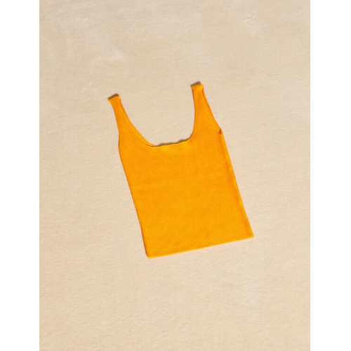 산드로 Sandro Ribbed knit cropped tank top,Yellow