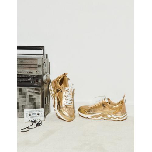 산드로 불꽃 스니커즈 Sandro Flame sneakers,Full Gold