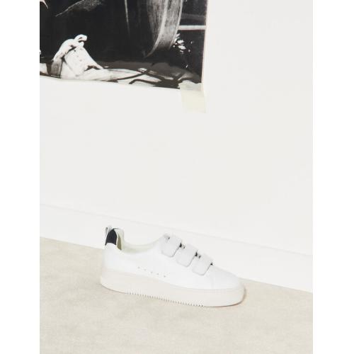 산드로 벨크로 스니커즈 Sandro Leather Velcro sneakers,white