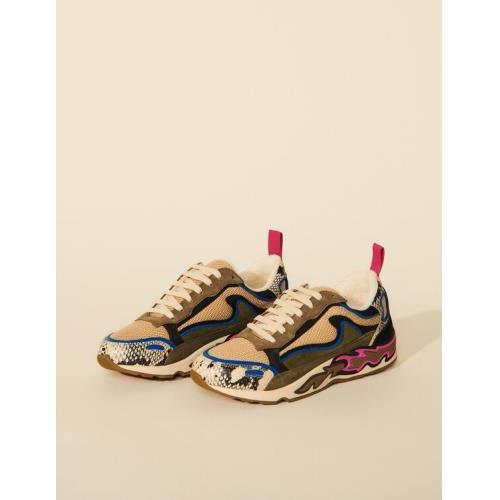 산드로 Sandro Flame sneakers,Blue Grey