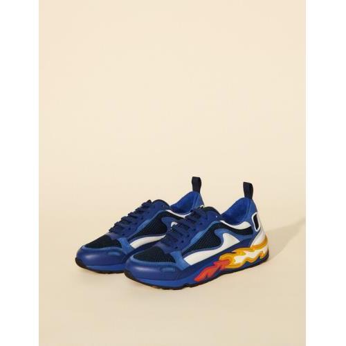 21SS 산드로 플레임 불꽃 어글리슈즈 - 네이비 블루 Sandro Flame sneakers