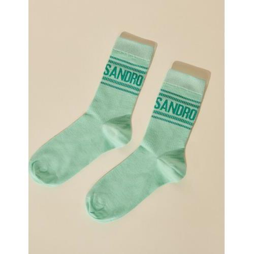 산드로 로고 양말 Socks with Sandro logo and stripes