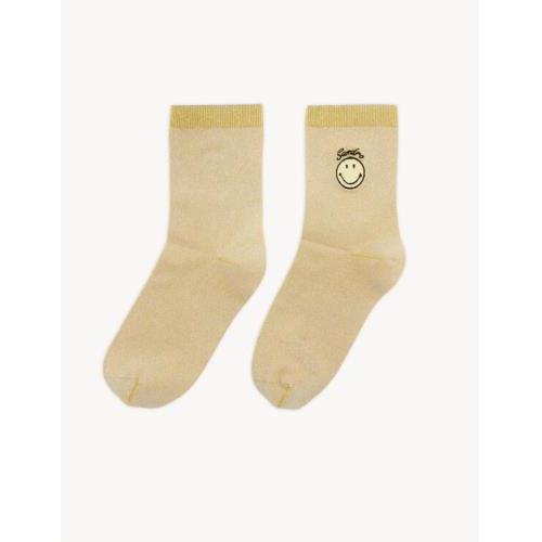 산드로 스마일리 루렉스 양말 Sandro Smiley Lurex socks with embroidery