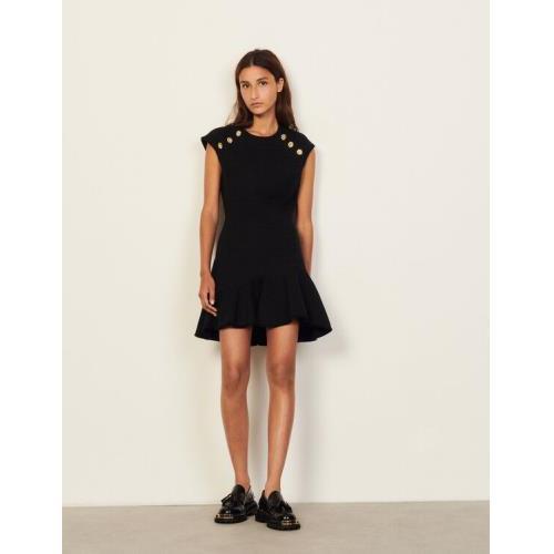 산드로 숏 트위드 원피스 Sandro Short tweed dress,Black