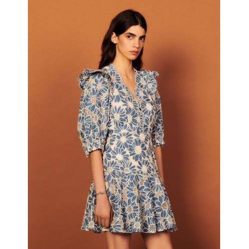 산드로 원피스 Sandro Short dress in embriodered fabric