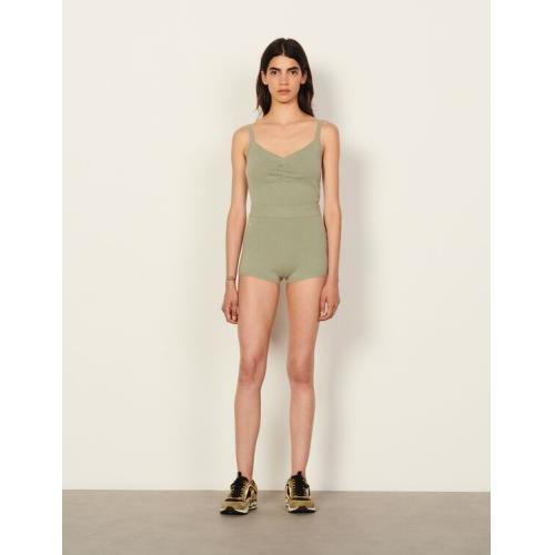 산드로 울 반바지 Sandro Wool shorts,Olive Green